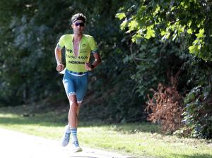 Boris Stein auf dem Halbmarathon beim Ironman 70.3 Gdynia